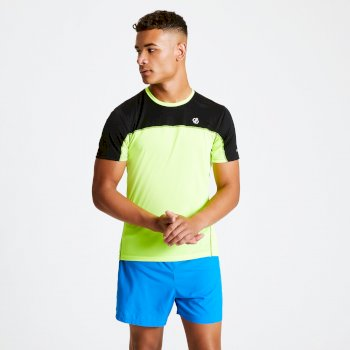 Men's Notable Lightweight T-Shirt Fluro Yellow Black