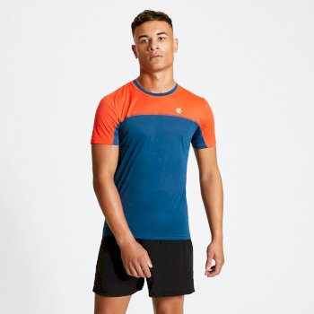 Men's Notable Lightweight T-Shirt Majolica Blue Trail Blaze