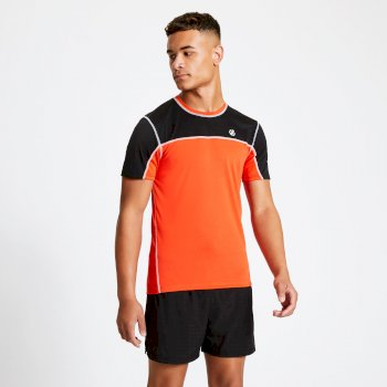 Men's Notable Lightweight T-Shirt Trail Blaze Red Black