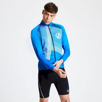 Men's AEP Criterium Full Zip Cycling Jersey Athletic Blue