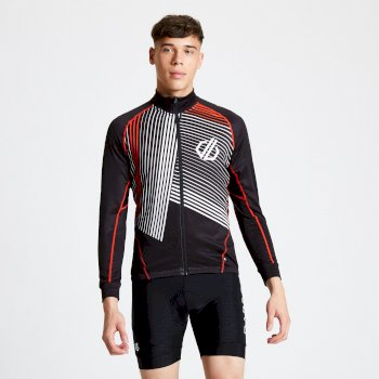 Men's AEP Criterium Full Zip Cycling Jersey Black
