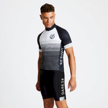 Maillot cycle Homme ergonomique zippé AEP ALTERNATION Noir