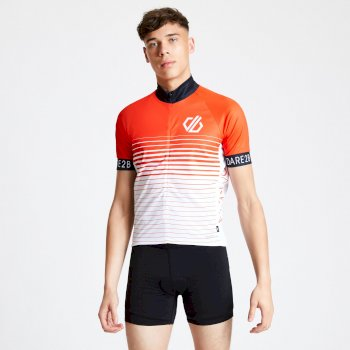 Maillot cycle Homme ergonomique zippé AEP ALTERNATION Rouge
