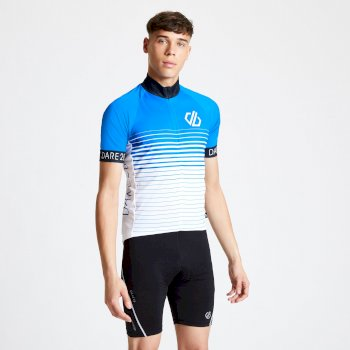 Maillot cycle Homme ergonomique zippé AEP ALTERNATION Bleu