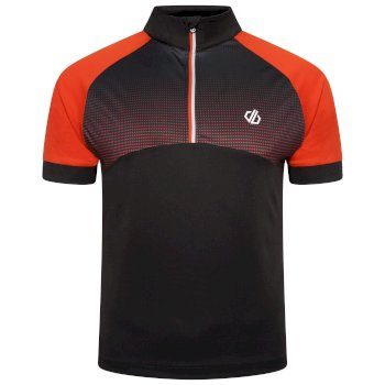 Men's Stay The Course Half Zip Cycling Jersey Trail Blaze Black