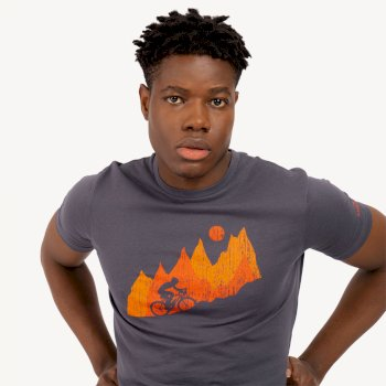 Men's Determine Graphic T-Shirt Ebony Grey