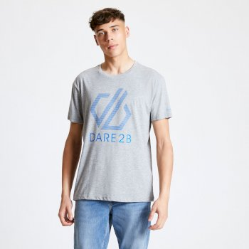 Men's Continuous Dare2b Print T-Shirt Ash Grey