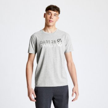 Men's Focalize Dare2b Print T-Shirt Ash Grey