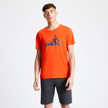 Men's Integrate Graphic T-Shirt Trail Blaze Red