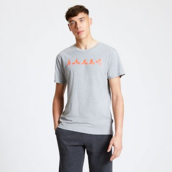 Men's Integrate Graphic T-Shirt Ash Grey