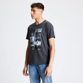 Men's Token Graphic T-Shirt Charcoal Grey