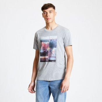 Men's Token Graphic T-Shirt Ash Grey