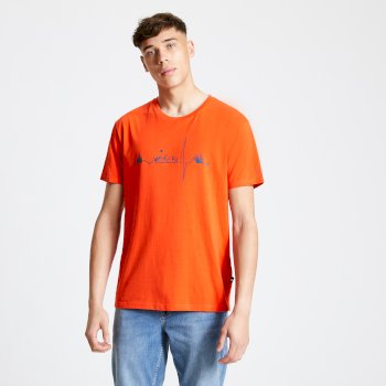 T-Shirt Homme avec imprimé DIFFERENTIATE Rouge