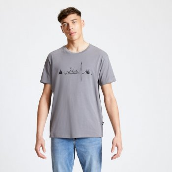 T-Shirt Homme avec imprimé DIFFERENTIATE Gris