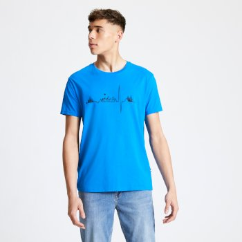 Men's Differentiate Graphic T-Shirt Athletic Blue