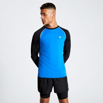 Men's Realize Long Sleeve T-Shirt Athletic Blue Black