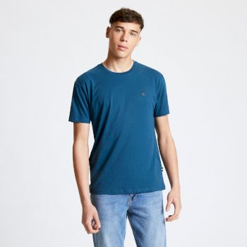 Men's Devout T-Shirt Majolica Blue