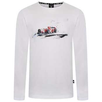 Men's Overdrive Long Sleeved Graphic T-Shirt White