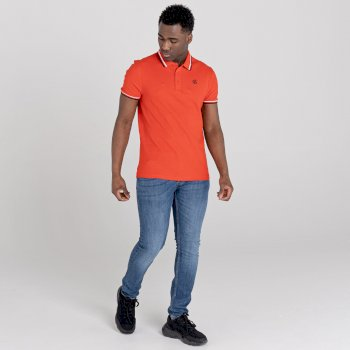 La Collection Jenson Button - Polo Homme PRECISE Orange
