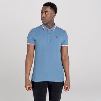 La Collection Jenson Button - Polo Homme PRECISE Bleu
