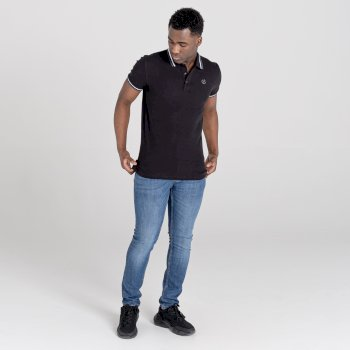 La Collection Jenson Button - Polo Homme PRECISE Noir