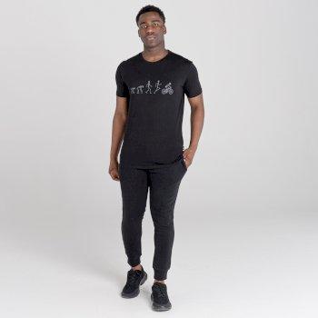 Men's Integral Organic Cotton Graphic T-Shirt Black Ebony Grey