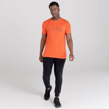 Men's Integral Organic Cotton Graphic T-Shirt Trail Blaze Red