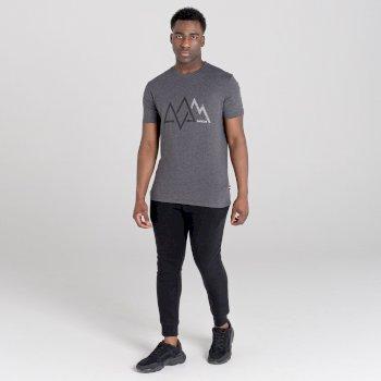 Men's Allusion Organic Cotton Graphic T-Shirt  Charcoal Grey Marl