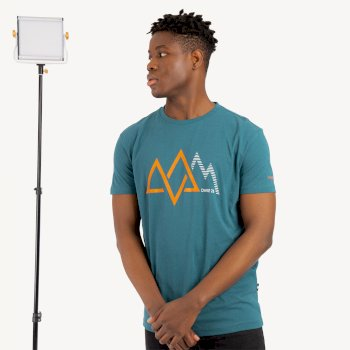 Men's Allusion Organic Cotton Graphic T-Shirt  Wild Green
