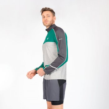 The Jenson Button Edit - Power Up Half Zip Lightweight Jersey Ultramarine Green Ebony Grey