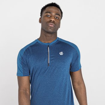 Men's Aces II Half Zip lightweight Jersey   Petrol Blue