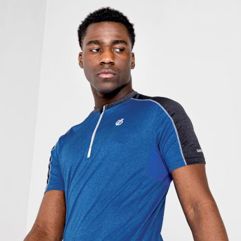 Men's Aces II Half Zip lightweight Jersey   Athletic Blue Ebony Grey