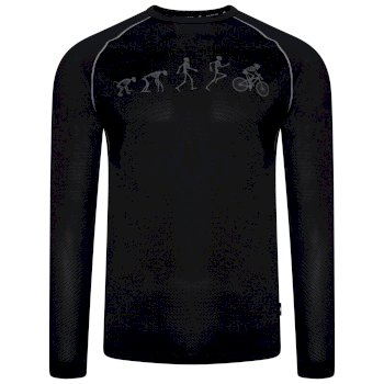 Men's Righteous Long Sleeved Graphic Tee Black