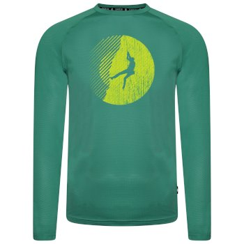 Men's Righteous Long Sleeved Graphic Tee Jelly Bean Green