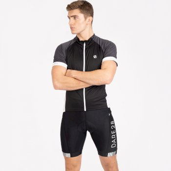Men's Protraction Full Zip Lightweight Jersey  Black Ebony Grey