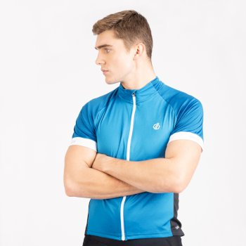 Men's Protraction Full Zip Lightweight Jersey  Methyl Blue Petrol Blue