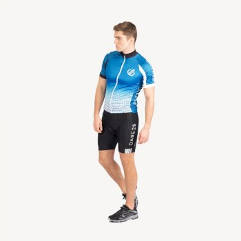 Men's Virtuosity Short Sleeved AEP Jersey Petrol Blue Gradient
