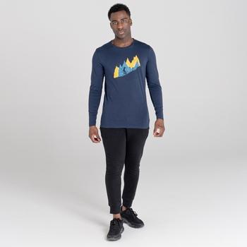 The Jenson Button Edit - Upgrade Long Sleeved Graphic T-Shirt Nightfall Navy