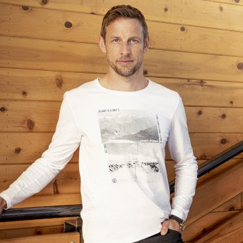 The Jenson Button Edit - Upgrade Long Sleeved Graphic T-Shirt White