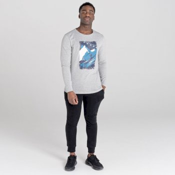 The Jenson Button Edit - Upgrade Long Sleeved Graphic T-Shirt Ash Grey