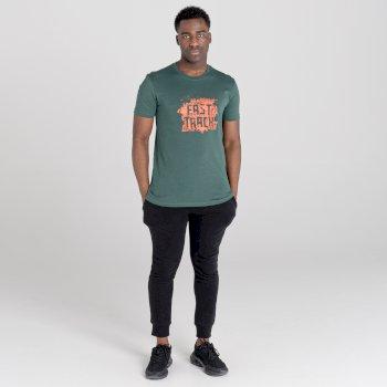 The Jenson Button Edit - Dubious Short Sleeved Graphic T-shirt Fern Green