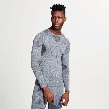 Men's Zonal III Long Sleeve Base Layer Top Charcoal Grey