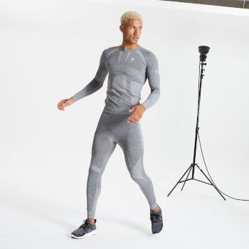 Men's In The Zone Performance Base Layer Set Charcoal Marl