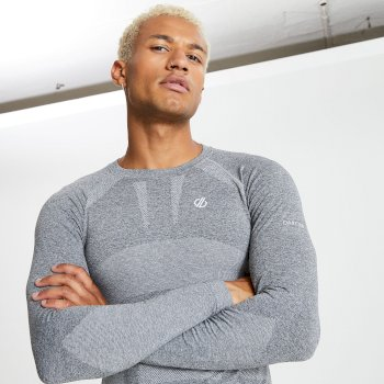Men's In The Zone Long Sleeved Base Layer Top Charcoal Marl