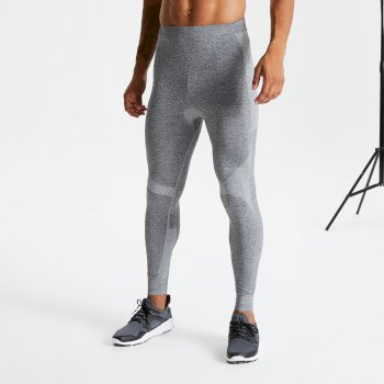 Men's In The Zone Base Layer Leggings Charcoal Marl