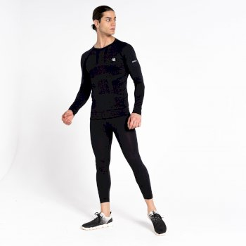 Men's In The Zone Base Layer 3/4 Leggings Black