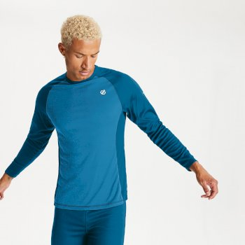 Men's Exchange Base Layer Set Methyl Blue Petrol Blue