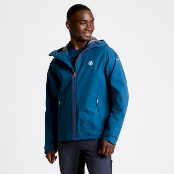 Men's Recode Lightweight Hooded Waterproof Jacket Majolica Blue