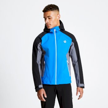 Men's Recode Lightweight Hooded Waterproof Jacket Athletic Blue Black