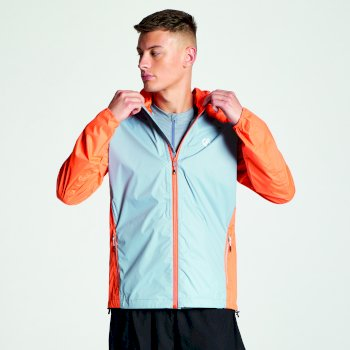 Men's Propel Lightweight Packaway Waterproof Shell Jacket Gravity Grey Blaze Orange
